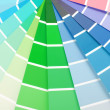 Color chart guide sampler — Stockfoto #33918241