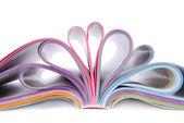Magazine catalog folded — Stock Photo
