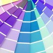 Color chart guide sampler — Foto Stock #34338193