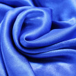 Blue silk fabric texture — Stock Photo