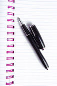 Penna a sfera e notebook — Foto Stock