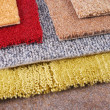 Carpet chooce for interior — Stock Photo