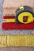 Carpet choice for interior — Stock Photo