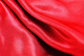 Red silk fabric texture — Stock Photo