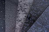 Black pvc plastic cladding panel samples — Stock Photo