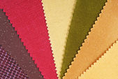 Fabric material choice for home interior — Stock Photo