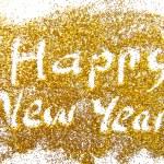 Happy New Year golden glittering background — Stock Photo #35430741