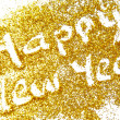 Happy New Year golden glittering background — Stock Photo #35430723