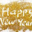 Happy New Year golden glittering background — Stock Photo #35430741