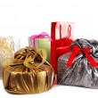 Gifts presents isolated on white — Stock Photo