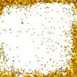 Golden sparkle glittering frame — Stock Photo