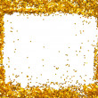Stock Photo: Golden sparkle glittering frame