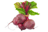 Beetroot bunch isolated on white — Stock Photo