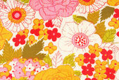Floral flowers fabric texture macro — Stock Photo