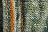 Jeans denim fabric seam texture — Stock Photo