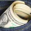 Dollar in der Tasche — Stockfoto