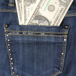 Foto Stock: Dollars in the pocket