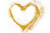 Heart shape frame border isolated on white — Foto Stock