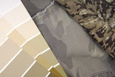 Camouflage color chart for interior design — Stock Photo