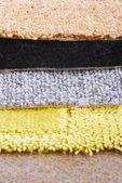 Carpet selection choice  for interior — Stok fotoğraf