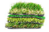 Artificial grass astroturf selection isolated on white — Stock Photo