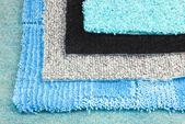 Teppich auswahl wahl beispiel für den innenausbau — Stockfoto