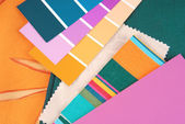 Color design trendy selection for interior — Foto de Stock