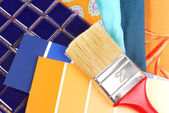 Interior color and design selection — Stock Photo