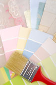 Color pastel design  selection for interior — Foto de Stock