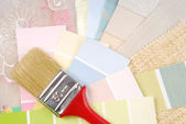Color pastel design  selection for interior — Stock Photo
