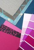 カラー デザインのインテリアの選択 — ストック写真
