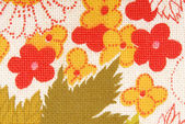 Floral fabric texture macro background — Stock Photo