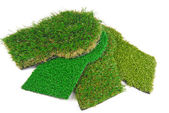 Artificial astroturf grass  samples — Stock Photo