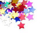 Konfetti stjärnor gränsar bakgrund — Stockfoto