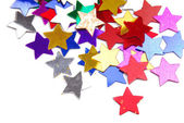 Confetti stars border background — Stock Photo
