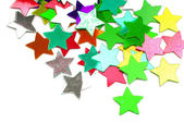 Confetti stars border background — Stock Photo