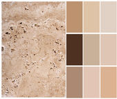 Travertine color chart — Stock Photo