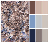 Granite color chart selection for interior — 图库照片