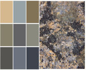 Granite color chart selection for interior — Stock fotografie