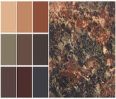 Granite color chart selection for interior — Photo