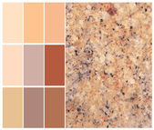 Granite color chart selection for interior — Stock Photo