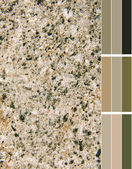 Granite imitation color palette with complimentary color swatches — Stock Photo