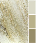 Marble color palette swatches with complimentary — Stock Photo