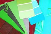 Färg design val för interiör — Stockfoto