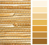 Grasscloth wallpaper color chart palette swatches — Stock Photo