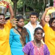 Stock Photo: Thaipusam Procession in Singapore