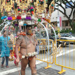 Stock Photo: Mwith Kavadi during Thaipusam