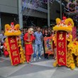 Dragon Dance during Chinese New Year — Stock Photo
