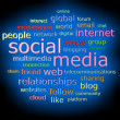 Social media concept in 3d word tag cloud — Stock Photo #50142957