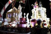 Large luxury Christmas decoration lights — Stock Photo